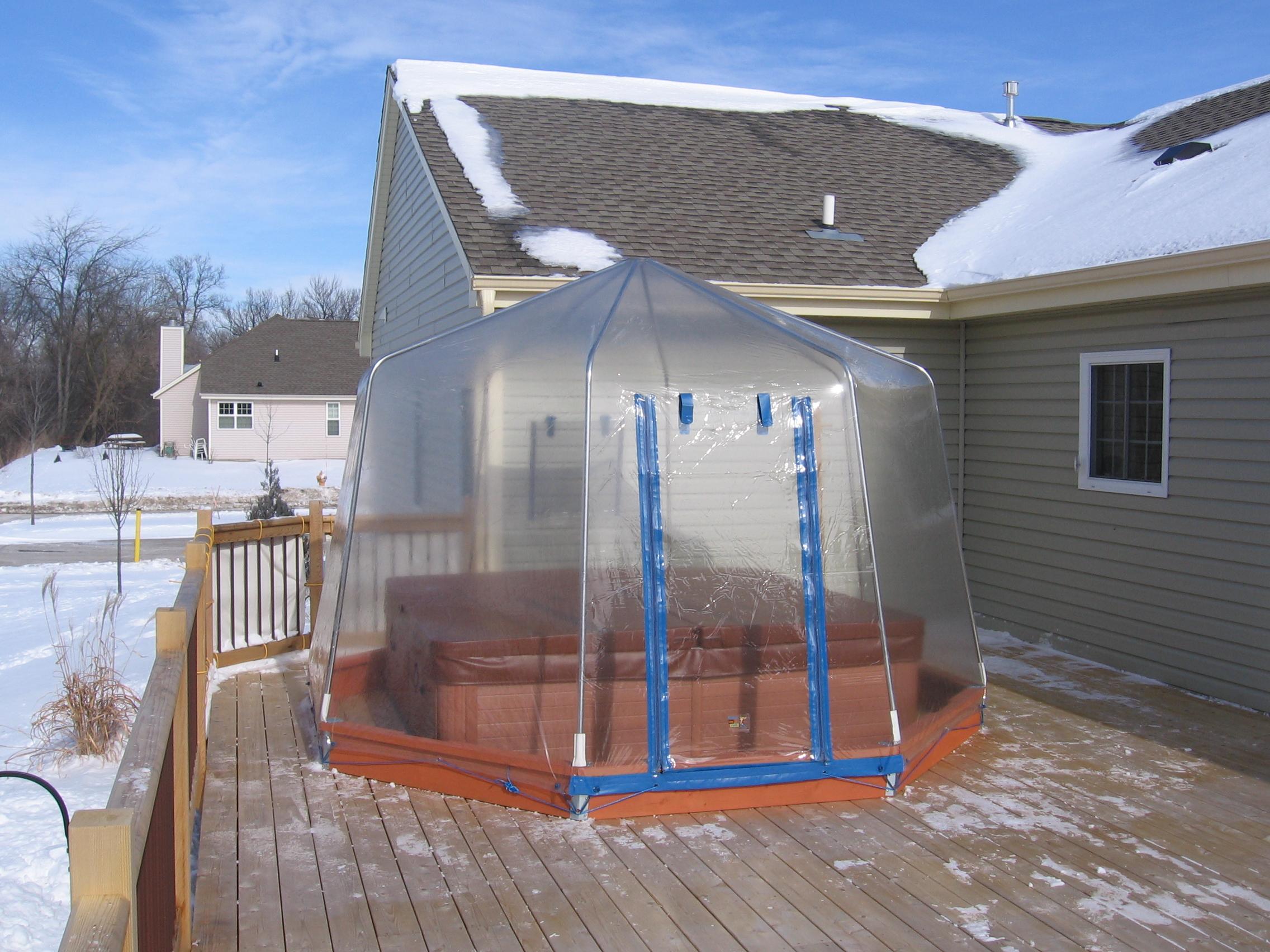 spa hot tub enclosure - Hot Tub Enclosures