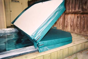 tapered hot tub cover